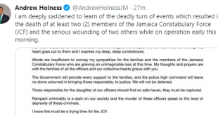 Andrew Holness Tweet